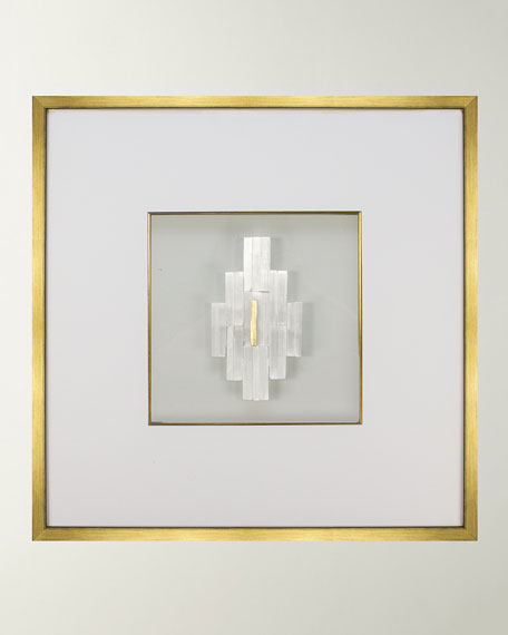 Wjc Design Beatrice Selenite Crystal Gold Leaf Wall Art And Matching Items