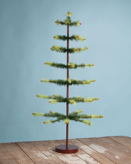 """Two-Tone Feather Christmas Tree, 36"""""""
