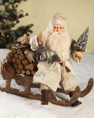 Santa on Log Sled
