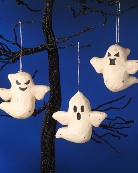 Haunted Ghost Ornaments, Set of 3