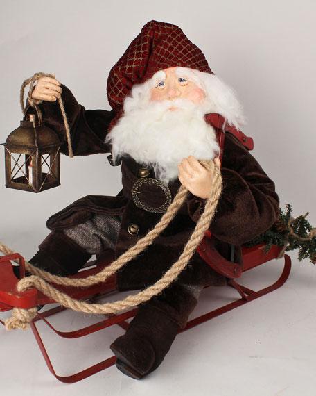 Limited Edition Handmade Oh Tannenbaum Santa Decor