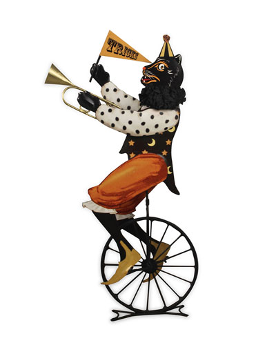 Circus Cat on Unicycle