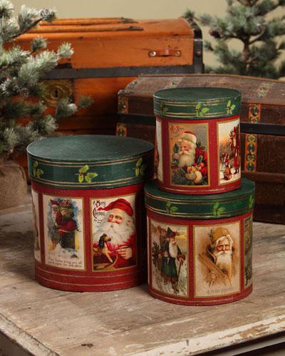 Santa Nesting Boxes  Set of 3
