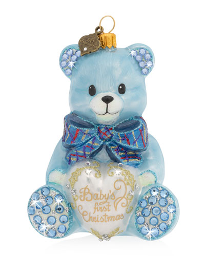 2019 Baby's First Christmas Ornament  Blue