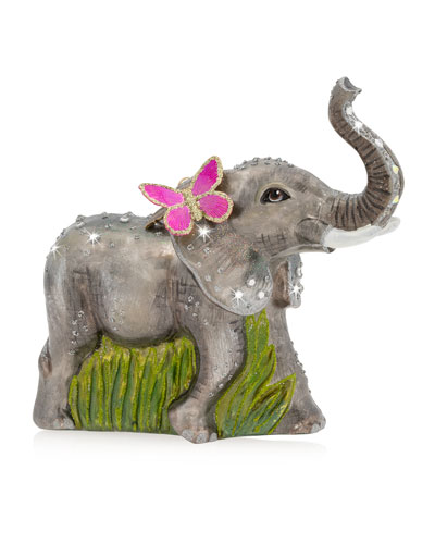 Elephant Glass Ornament