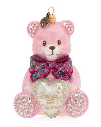 2020 Baby's First Christmas Ornament  Pink