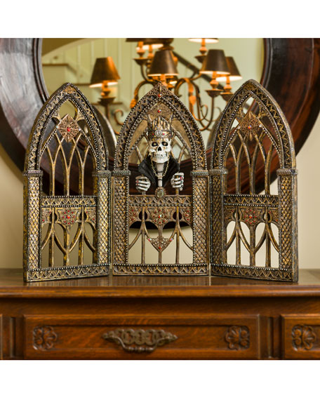 Gothic Style Tabletop Triptych