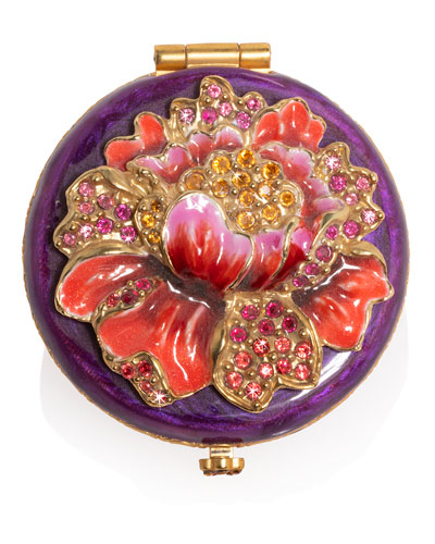 Brocade Floral Round Compact
