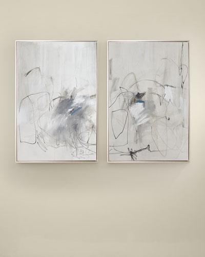 Gray Blur Giclee Art Set