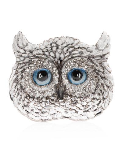 Snow Owl Trinket Tray