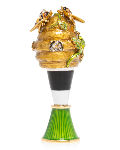 Beehive Wine Stopper and Stand