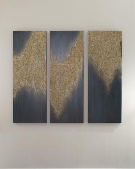 """Sparkling Snow"" Giclee Canvas Art, Set of 3"
