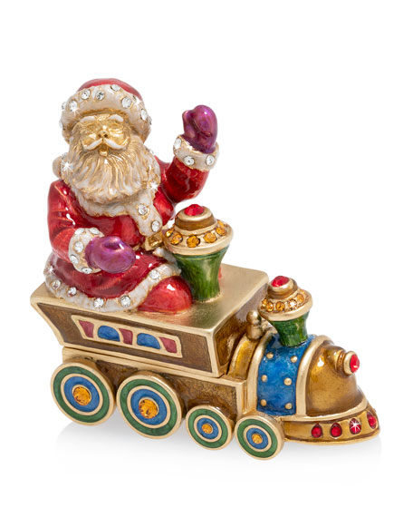 Jay Strongwater 2019 Santa on Train Annual Box