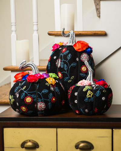 Day of the Dead Pumpkins  Set of 3