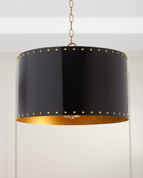 Couture Lamps Metal Drum Studded Pendant, 20