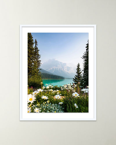 Flower Mountain Giclee Art by Alex Iby