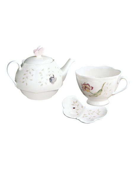 Butterfly Meadow Stacked Tea Set with Bag Holder