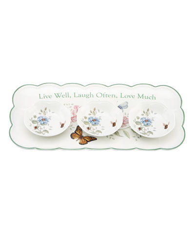 Butterfly Meadow Sentiment Hors d'Oeuvres Tray