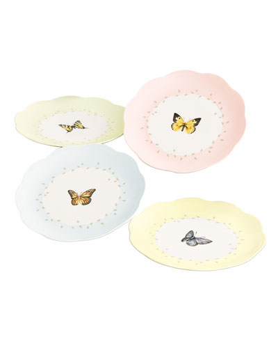 Butterfly Meadow Dessert Plates  Set of 4