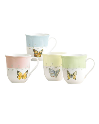 Butterfly Meadow Dessert Mugs  Set of 4