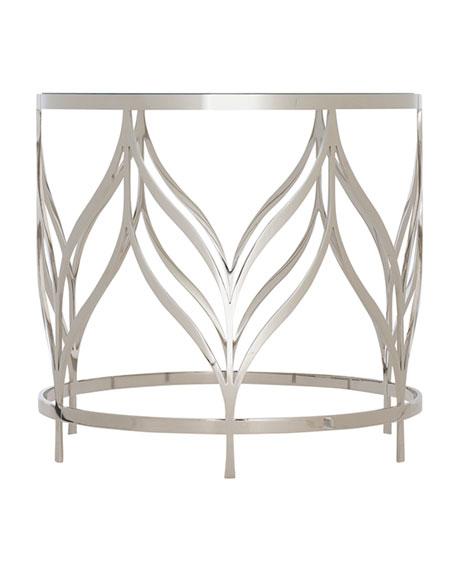 Calista Metal Swirl End Table