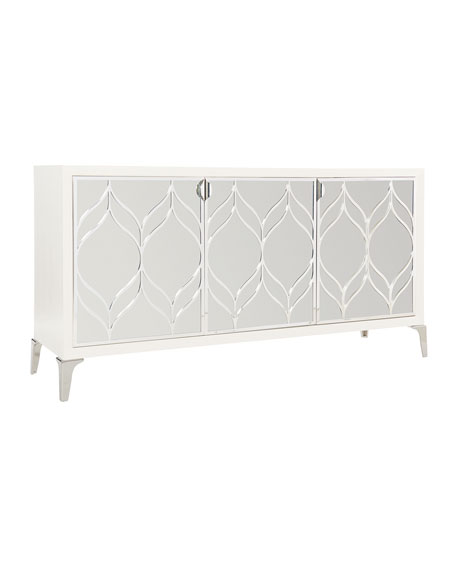 Calista Metal Swirl Dining Console