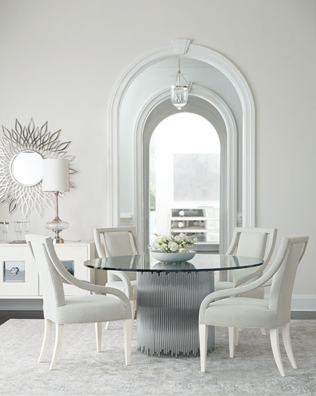 Bernhardt Calista Round Metal & Glass Dining Table