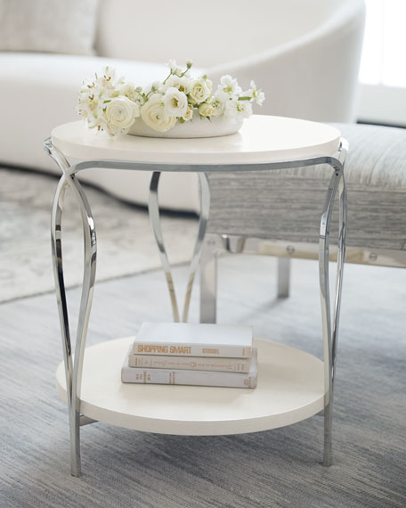 Calista Round Metal Side Table
