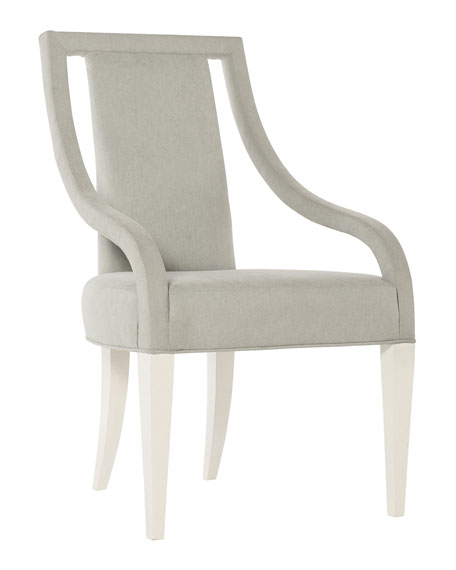 Calista Cutout Upholstered Arm Chairs, Set of 2