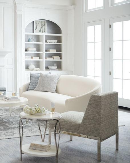 "Lumen Winter White Sofa, 98"""