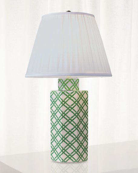 Bamboo Trellis Hex Table Lamp