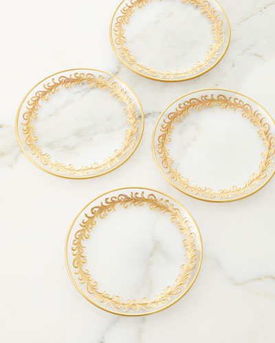 Oro Bello Bread Plates  Set of 4