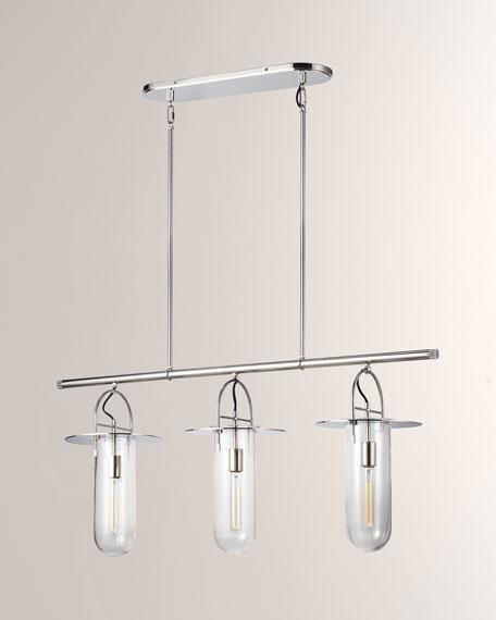 Linear 3-Light Chandelier
