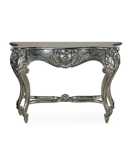 Louis XV Console Table, Silver