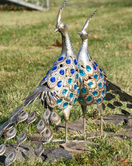 Metallic Iron Pheasants, Set of 2