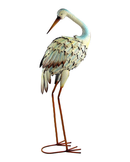 Assorted Iron Great White Herons, Set of 6