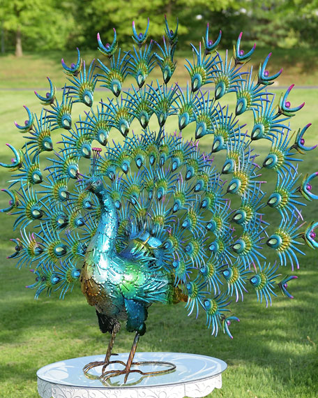 Large Colorful Peacocks, Set of 2