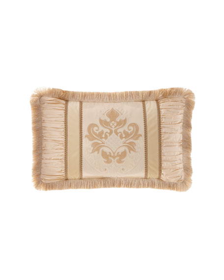 Deluxe Pieced Oblong Pillow with Fringe