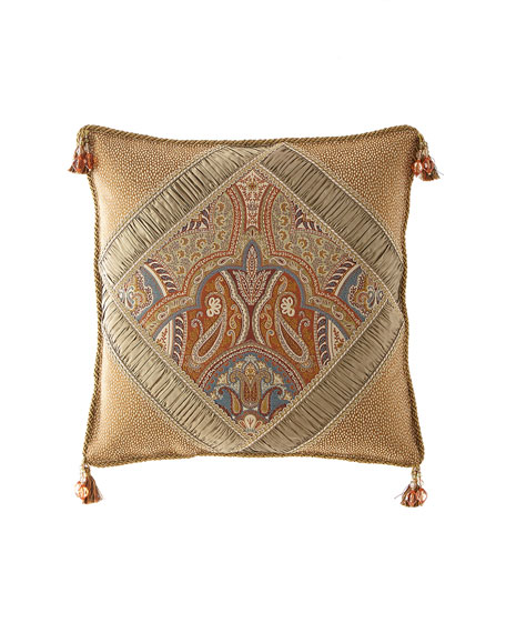 Sandoa Pieced Boutique Pillow with Tassels