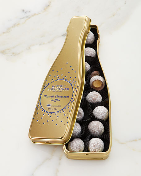 House of Dorchester Champagne Truffle Tin Gold