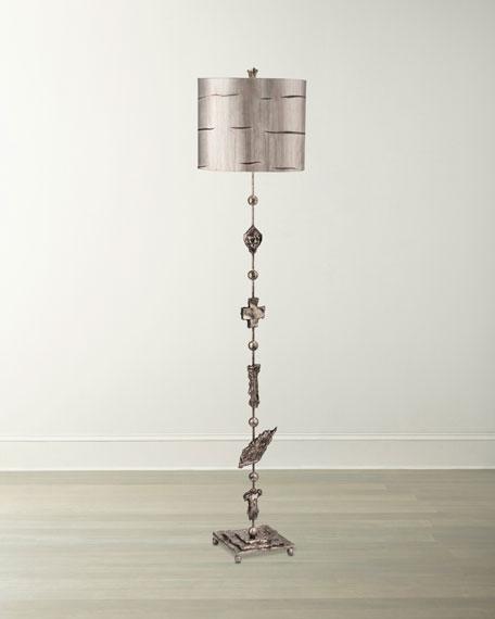 Fragment Silver Floor Lamp