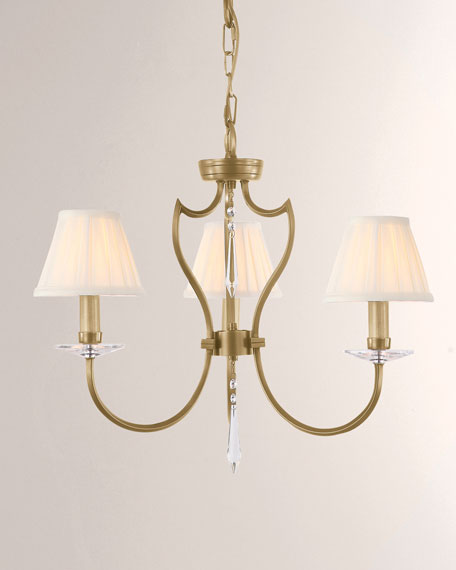 Pimlico Aged Brass 3-Light Chandelier