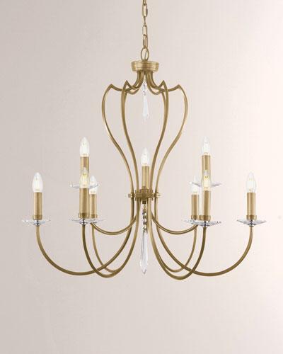 Pimlico Aged Brass 9-Light Chandelier