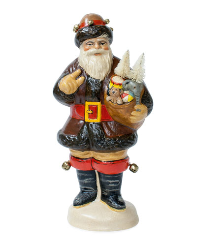 Santa in Furs Figurine