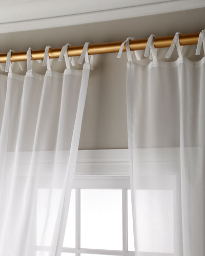 Carolina Sheer Tie Top Curtain Panel  108