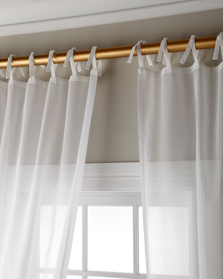 Sweet Dreams Carolina Sheer Tie Top Curtain Panel,