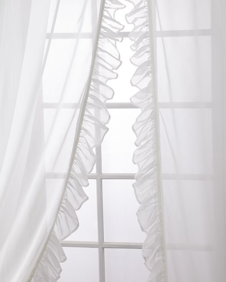 Carolina Sheer Ruffle Curtain Set, 96""