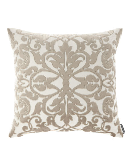 "Diana Applique Pillow, 22""Sq."