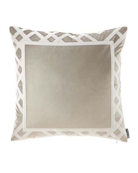 "Carlo Fawn Velvet Pillow, 24""Sq."