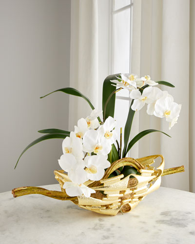 Golden Marvel Orchid Floral Arrangement